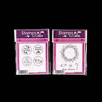 Stamps by Chloe Holly Wreath and Circle Sentiments Stamp Duo-245881