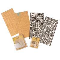 Tim Holtz Idea-ology Embellishment Set - Alpha Parts, Buttons, Fr-246465