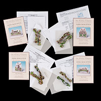 Nutmeg Pack of Four Cross Stitch Card Kits - Church, Castle, Cott-247572