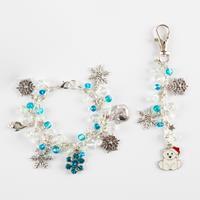 Aldridge Crafts Bead & Charm Bracelet with Bag Charm-250892