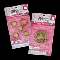 Spellbinders 2 x Packs of Bronze Media Mixage Bezel Circles - 8 P-251372