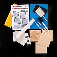Peak Dale Products Pewter Coaster Kit-251762
