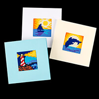 PixelHobby By the Sea Card Kit - 3 Baseplates, 3 Card Blanks & En-252436