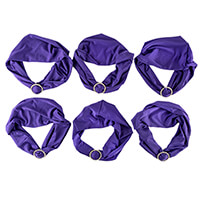 Set of 6 Diamante Buckle Chair Covers - Purple-252447