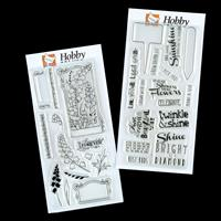 Hobby Art Bells & Brighten your Day DL Clear Stamp Sets - 28 Stam-255978