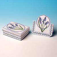 Nutmeg Bluebell Gift Box and Matching Card Cross Stitch Kit-257229