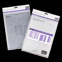 Couture Creations 2 x A4 Embossing Folders - Royal George & Sayin-257652