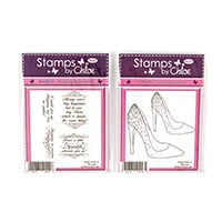 Stamps By Chloe Fabulous Stiletto & Shopping Sentiments Stamp Duo-257820