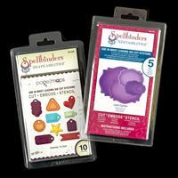 Spellbinders 2 x Die Sets - Charmed I'm Sure & Labels Eighteen - -260052