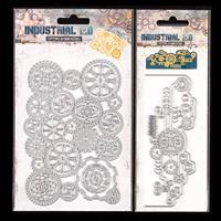 Luv Crafts Industrial Cogs & Botanic Corner & Border Die Set Pick-261740