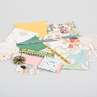 Simply Vintage Fabric, Ribbon & Lace Inspiration Pack - Minimum 3-263295