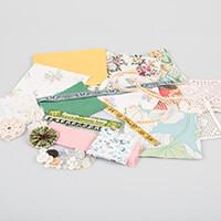 Simply Vintage Fabric, Ribbon & Lace Inspiration Pack - Minimum 3-263295