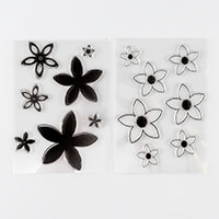 FabScraps 2 x Clear Stamp Sets - Hello I'm New - Flower 2 and Lif-263459
