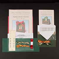 Nutmeg Christmas Candles Gift Bag & Card Cross Stitch Kit-265912