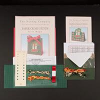 Nutmeg Christmas Candles Gift Bag & Card Cross Stitch Kit-265912