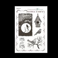 Chocolate Baroque A5 Rubber Stamp - Sing Your Song-266853