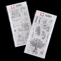 Hobby Art Orchard & Fairy Girls DL Clear Stamp Sets - 24 Stamps-268076