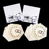 FabScraps 2 x Die-Cut Hexagon Scroll Card Albums - 5 Pages & 2 Ri-268231