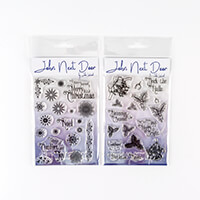 John Next Door Set of 2 A6 Clear Stamp Sets - Christmas Snowflake-269140
