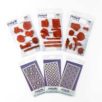 IndigoBlu Stamp & Stencil Art Journal Bundle - 3 x 6x3