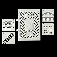 Tando Creative 5 x Assorted Stencils Bundle-273113