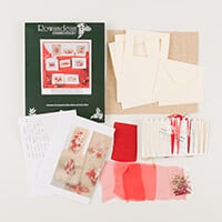 Rowandean Embroidery Christmas Cards on Tweed-273780