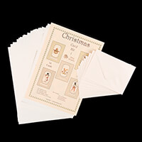 Dolly Dimples Christmas Characters Card Making Kit  - Makes 10 Ca-274641