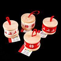 Artemio® 4 x Christmas Ribbon Reels - Red & White - Reindeer & Sn-277421