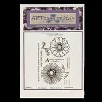 Artisan Design Funky Floral A6 Stamp Sheet - Funky 8-277609