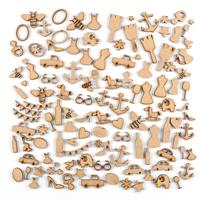 Samantha K MDF Mix Up Set - 124 x Small Assorted Elements/Shapes-279289