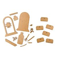 Studio 490 - 2 x Art Parts MDF Packs - Tag Toppers & Serum of Art-284222