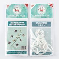 FMM FunCraft 3 x Miniature Craft Embellishment Cutters & 4 x Star-284339