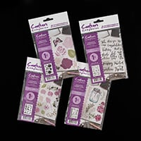 Crafter's Companion A6 Rubber Stamp Collection - Words & Florals-285748