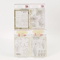 Which Craft ? 4 A6 Stamp Sets - Fluttering, Celebrate, Floral & T-287269