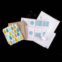 Sew Mine Box Leaves & Polka Dot Apron Kit-287776