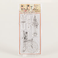 Which Craft? Wonky Tonk Christmas Tree DL Stamp Set - Joy To The -288937