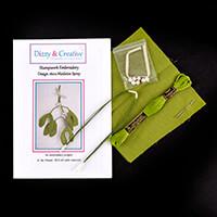 Dizzy & Creative Stumpwork Embroidery Mistletoe Spray Kit-290554