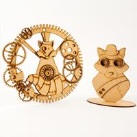 Madhatters Laser Cut MDF 3D Steampunk Fox Dreamcatcher and Fox Ki-290778