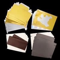 Set of 18 Assorted Ready To Make Gift Boxes & 1 x Pack of Crepe P-291241