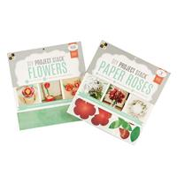 DCWV 2 x DIY Project Stacks - Paper Roses & Flowers - 12x12