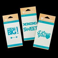 Diamond Press Word Dies - Dream, Sweet and I Love You - 6 Dies-295302
