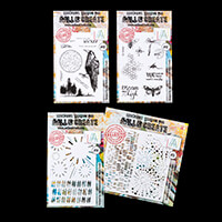 AALL & Create Set of 19 Stamps & 2 Stencils - Honey, Wicked, Burs-296956