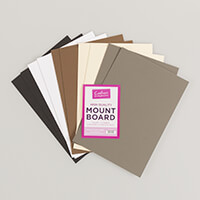 Mountboard with Flysheet A4 Pack of 10 in 5 colours-297486