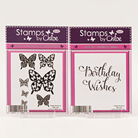 Stamps by Chloe Butterfly Background Builder & Birthday Wishes St-297526