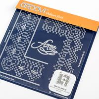 Groovi Queen Lace Duet A5 Square Plate - Anne-297732