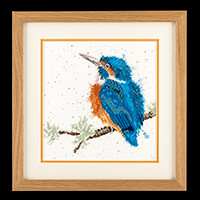 Stitch Kits Wrendale Kingfisher Counted Cross Stitch Kit-298347