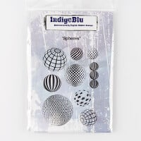 IndigoBlu A6 Red Rubber Cut Out Stamps-300376