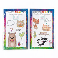 That's Crafty! Set of 2 Pick n Mix A6 Clear Stamps-300716