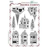 Chocolate Baroque Village Life A5 Stamp Sheet - Includes 8 Images-302218
