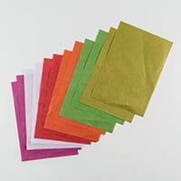 Pink Pig Pack of 12 A4 Mulberry Tissue Paper in 6 Colours-302303